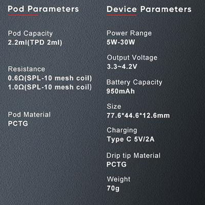 Nevoks-Pagee-Pod-Kit-Parameters