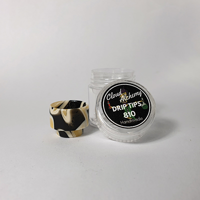 Cloud Alchemy Custom Drip Tip 810 - Orange, Black & White