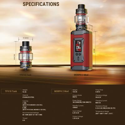 Smok-Morph-2-Specifications