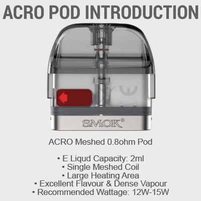 Smok Acro Mesh Pod 0.8ohm - 1x3