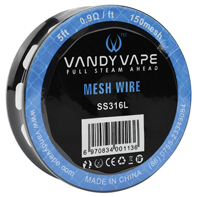 Vandy Vape SS316 Mesh Wire 200Mesh 5ft