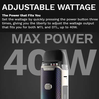Vaporesso-Luxe-PM40-Adjustable-Wattage