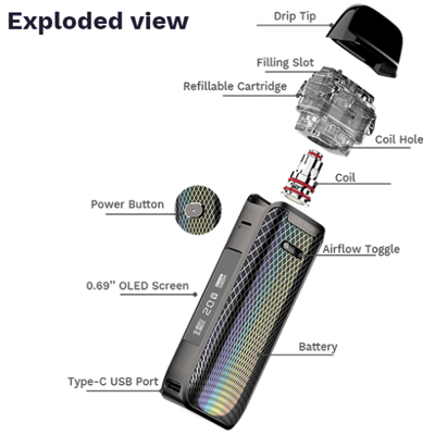 Vaporesso-Luxe-PM40-Exploded-View