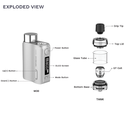 Vaporesso-Swag-II-Exploded-View