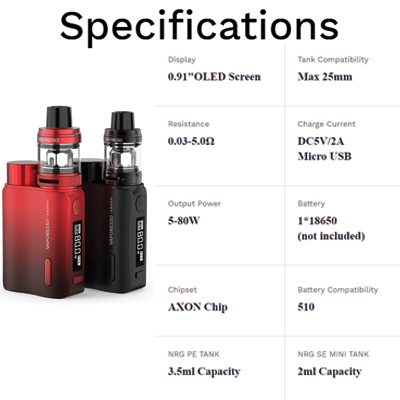 Vaporesso-Swag-II-Specifications