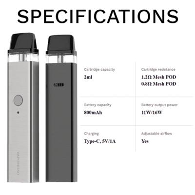 Vaporesso-XROS-Pod-Kit-Specifications