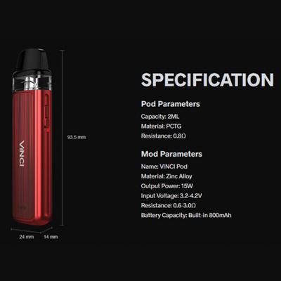 Voopoo-Vinci-Pod-Kit-Specification