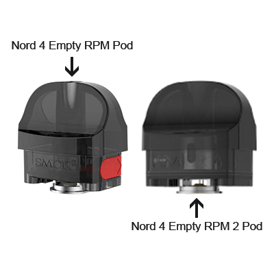 Smok Nord 4 Replacement Pod Cartridge No Coil - 1x3