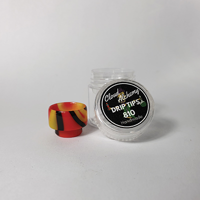 Cloud Alchemy Custom Drip Tip 810 - Red, Orange & Black