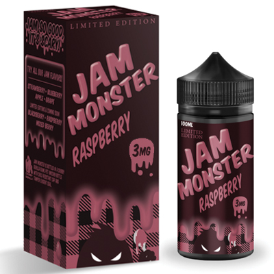 International - Jam Monster Raspberry 3mg 100ml - Limited Edition