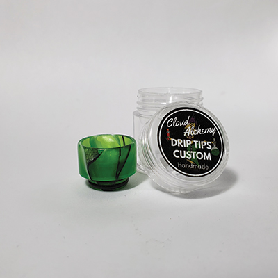 Cloud Alchemy Custom Drip Tip 810 - Green Lotus Leaf (O-RING)