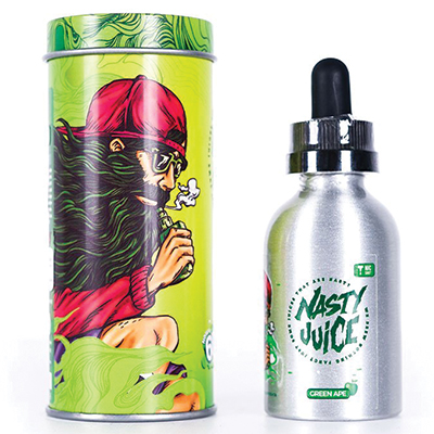 International - Nasty Yummy Series - Green Ape 0mg 60ml - Low Mint