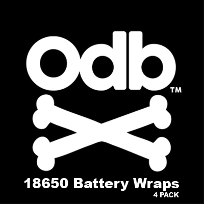ODB 18650 Battery Wraps - 4 Pack