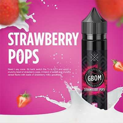 Local - GBOM Strawberry Pops 0mg 120ml